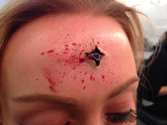 Wax Close Range Bullet Wound